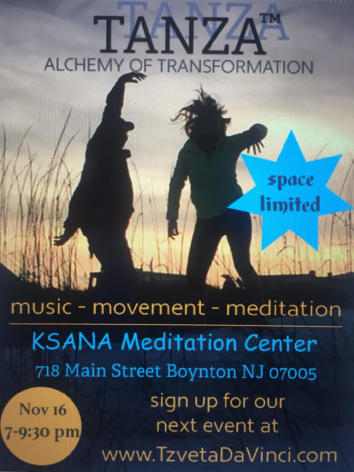 TANZA – Alchemy of Transformation - Ksana Meditation Center - An Open Space for Healing & Growth