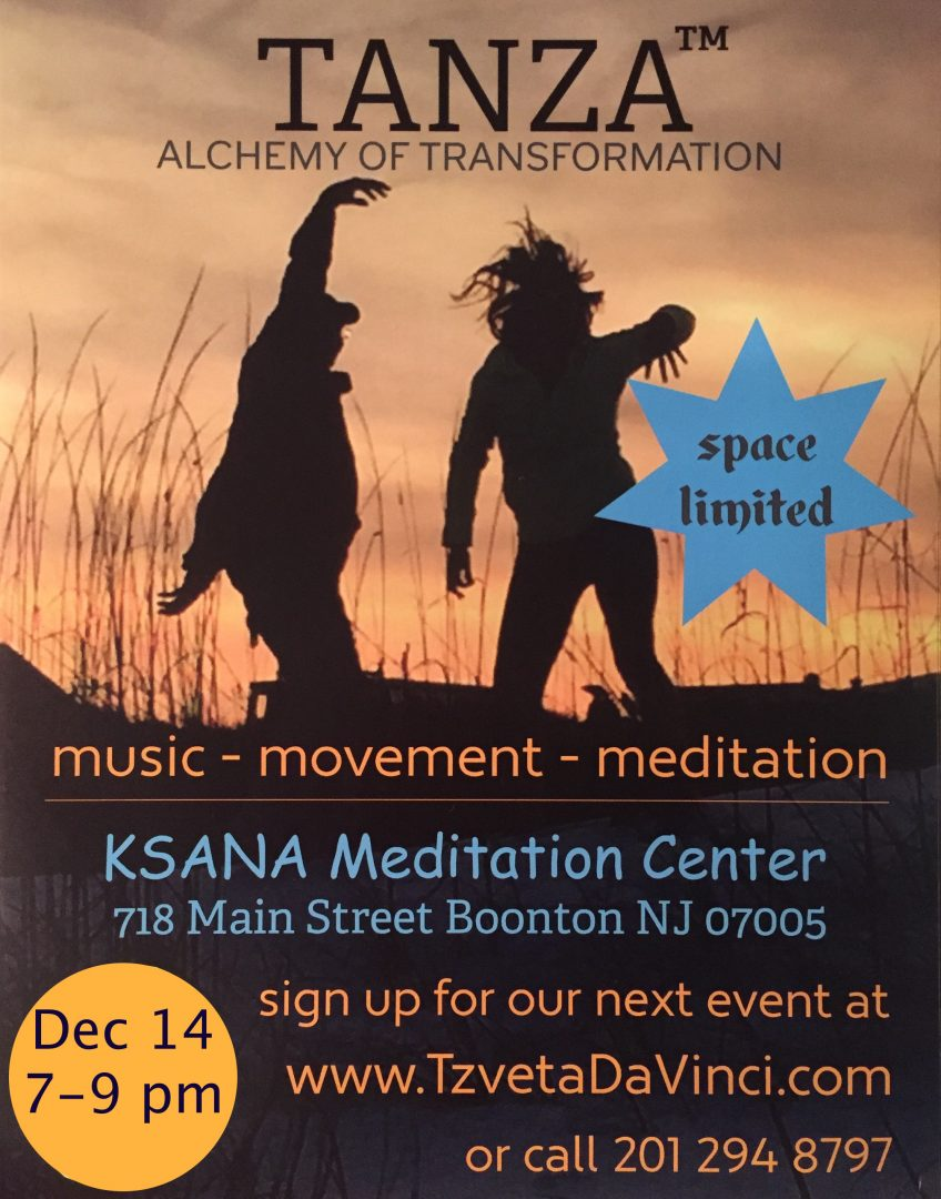 TANZA – Dance Meditation (Alchemy Of Transformation) - Ksana Meditation Center - An Open Space for Healing & Growth